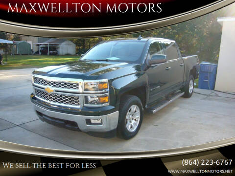 2015 Chevrolet Silverado 1500 for sale at MAXWELLTON MOTORS in Greenwood SC