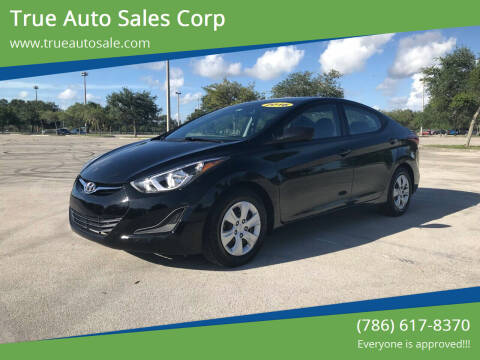 2016 Hyundai Elantra for sale at True Auto Sales Corp in Miami FL