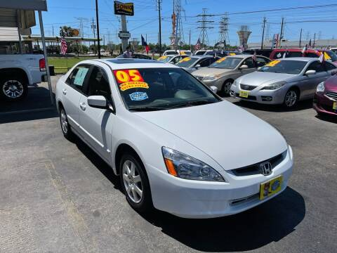 2005 Honda Accord for sale at Texas 1 Auto Finance in Kemah TX