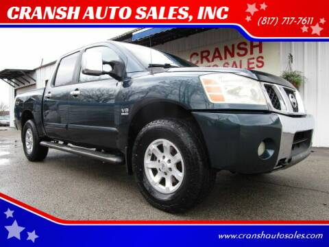 2004 Nissan Titan for sale at CRANSH AUTO SALES, INC in Arlington TX