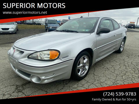 2003 Pontiac Grand Am for sale at SUPERIOR MOTORS in Latrobe PA