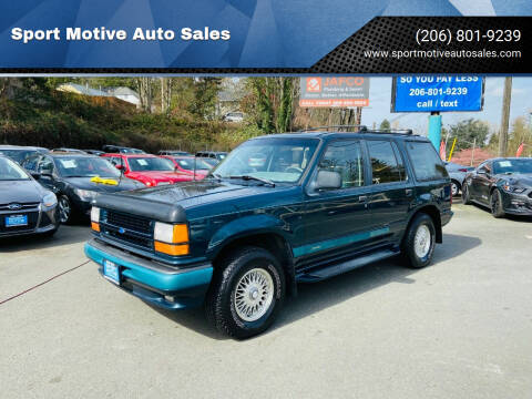 1994 Ford Explorer for sale at Sport Motive Auto Sales in Seattle WA