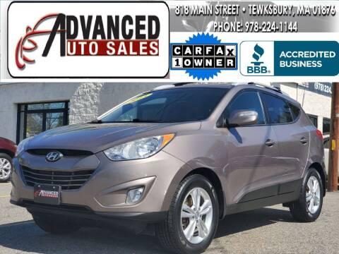 2013 Hyundai Tucson for sale at Advanced Auto Sales in Tewksbury MA