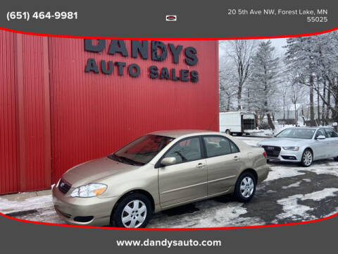 2007 Toyota Corolla for sale at Dandy's Auto Sales in Forest Lake MN