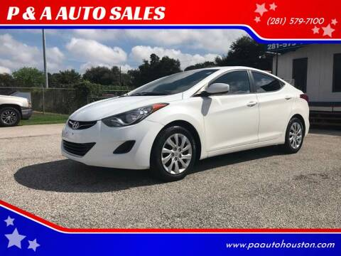 2011 Hyundai Elantra for sale at P & A AUTO SALES in Houston TX