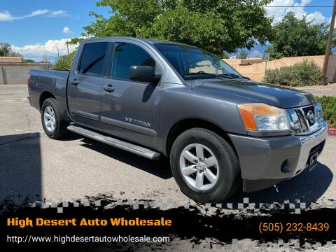 2013 Nissan Titan for sale at High Desert Auto Wholesale in Albuquerque NM