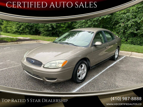 2004 Ford Taurus for sale at CERTIFIED AUTO SALES in Severn MD