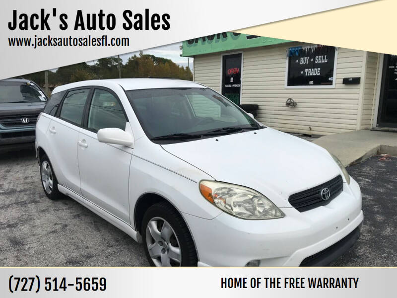 2006 Toyota Matrix for sale at Jack's Auto Sales in Port Richey FL