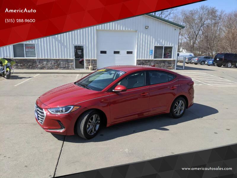 2018 Hyundai Elantra for sale at AmericAuto in Des Moines IA