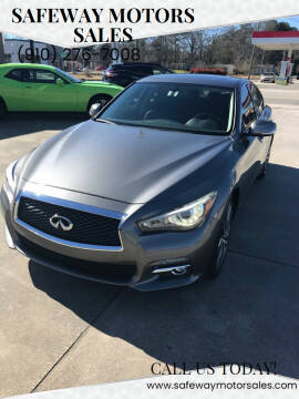 2015 Infiniti Q50 for sale at Safeway Motors Sales in Laurinburg NC