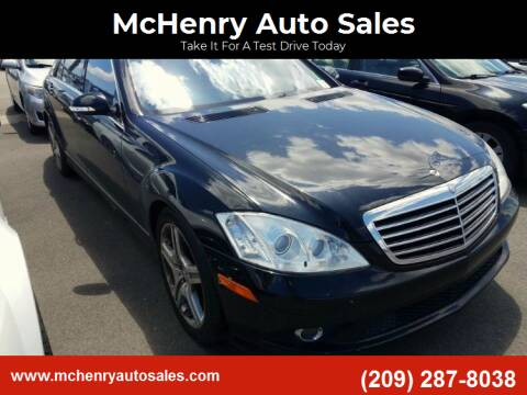 2008 Mercedes-Benz S-Class for sale at MCHENRY AUTO SALES in Modesto CA