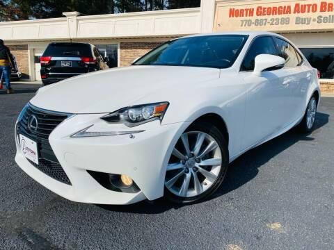 2014 Lexus IS 250 for sale at North Georgia Auto Brokers in Snellville GA