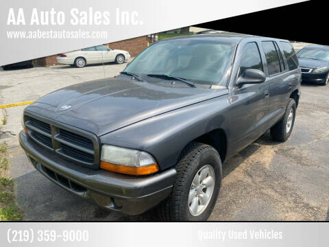 2003 Dodge Durango for sale at AA Auto Sales Inc. in Gary IN