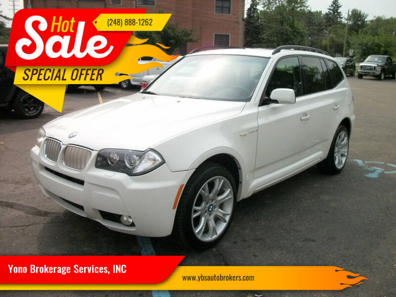 2008 BMW X3 for sale at Yono Brokerage Services, INC in Farmington MI