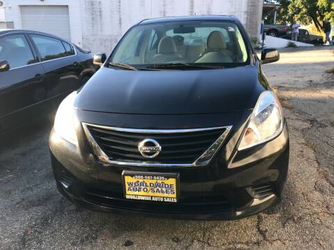 2012 Nissan Versa for sale at Worldwide Auto Sales in Fall River MA