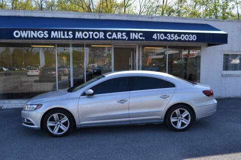 2014 Volkswagen CC for sale at Owings Mills Motor Cars in Owings Mills MD