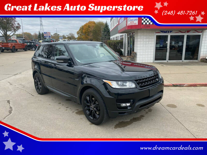 2015 Land Rover Range Rover Sport for sale at Great Lakes Auto Superstore in Pontiac MI