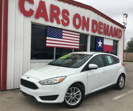 2016 Ford Focus for sale at Cars On Demand in Pasadena TX