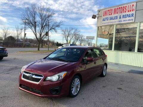 2013 Subaru Impreza for sale at United Motors LLC in Saint Francis WI