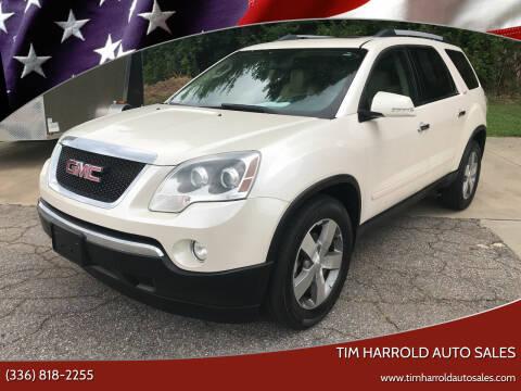 2011 GMC Acadia for sale at Tim Harrold Auto Sales in Wilkesboro NC