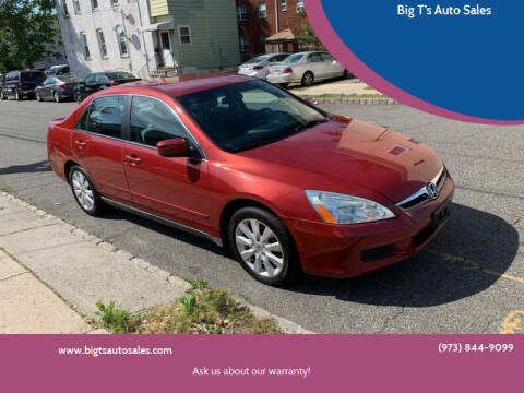 2007 Honda Accord for sale at Big T's Auto Sales in Belleville NJ