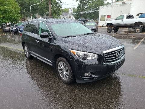 2013 Infiniti JX35 for sale at BETTER BUYS AUTO INC in East Windsor CT