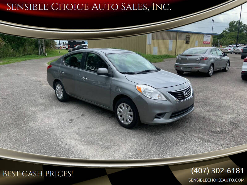 2012 Nissan Versa for sale at Sensible Choice Auto Sales, Inc. in Longwood FL