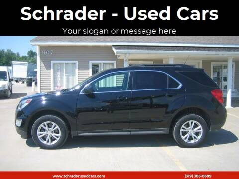 2016 Chevrolet Equinox for sale at Schrader - Used Cars in Mt Pleasant IA