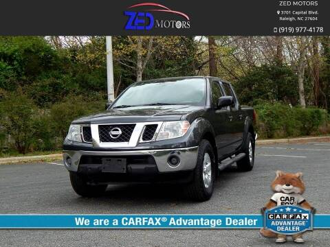 2010 Nissan Frontier for sale at Zed Motors in Raleigh NC