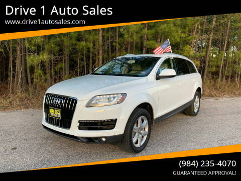 2014 Audi Q7 for sale at Drive 1 Auto Sales in Wake Forest NC