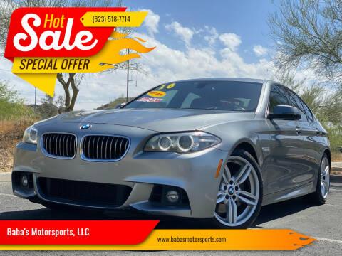 2016 BMW 5 Series for sale at Baba's Motorsports, LLC in Phoenix AZ