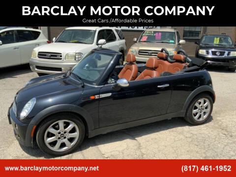 2008 MINI Cooper for sale at BARCLAY MOTOR COMPANY in Arlington TX