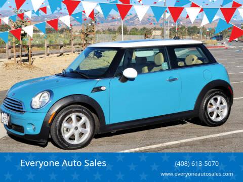 2010 MINI Cooper for sale at Everyone Auto Sales in Santa Clara CA
