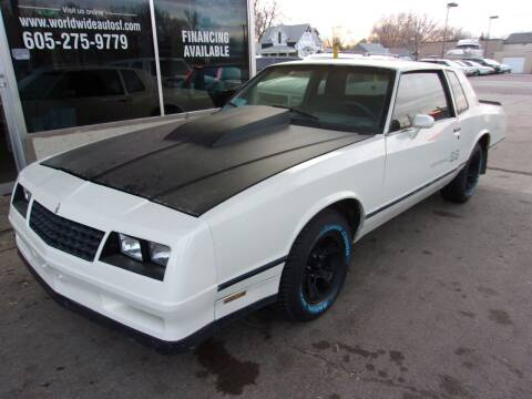 1984 Chevrolet Monte Carlo for sale at World Wide Automotive in Sioux Falls SD