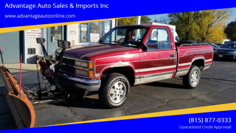 1990 Chevrolet C/K 1500 Series for sale at Advantage Auto Sales & Imports Inc in Loves Park IL