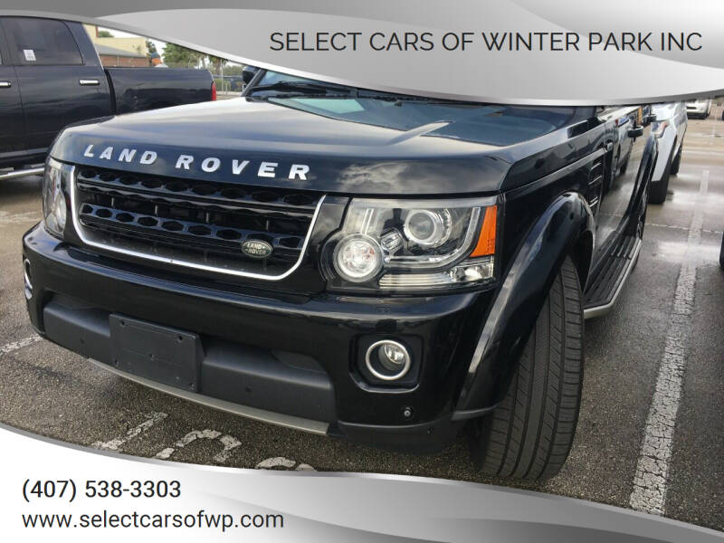 2016 Land Rover LR4 for sale at Select Cars Of Winter Park Inc in Orlando FL