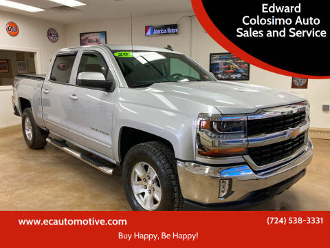 2016 Chevrolet Silverado 1500 for sale at Edward Colosimo Auto Sales and Service in Evans City PA