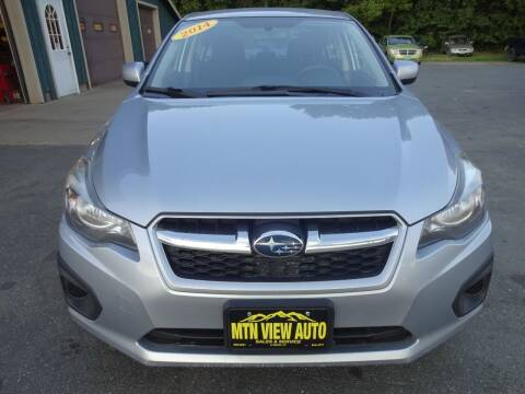 2014 Subaru Impreza for sale at MOUNTAIN VIEW AUTO in Lyndonville VT