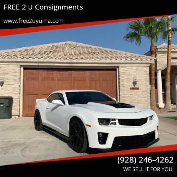 2011 Chevrolet Camaro for sale at FREE 2 U Consignments in Yuma AZ