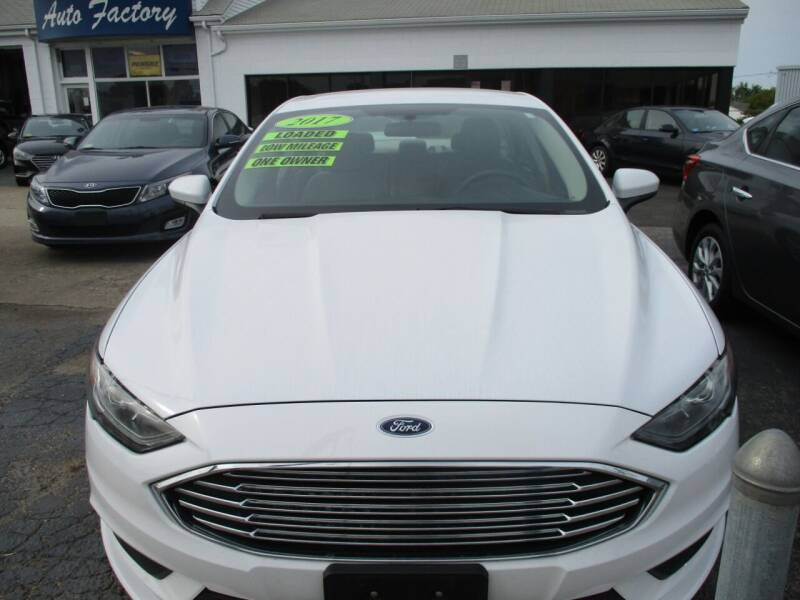 2017 Ford Fusion for sale at AUTO FACTORY INC in East Providence RI