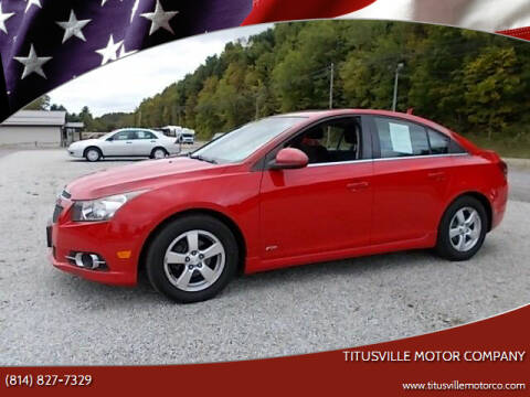 2013 Chevrolet Cruze for sale at Titusville Motor Company in Titusville PA