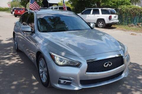 2014 Infiniti Q50 for sale at SUPER DEAL MOTORS in Hollywood FL