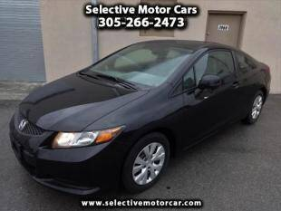 2012 Honda Civic for sale at Selective Motor Cars in Miami FL