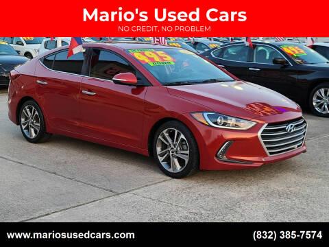2017 Hyundai Elantra for sale at Mario's Used Cars in Houston TX