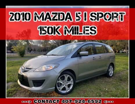 2010 Mazda MAZDA5 for sale at AFFORDABLE ONE LLC in Orlando FL