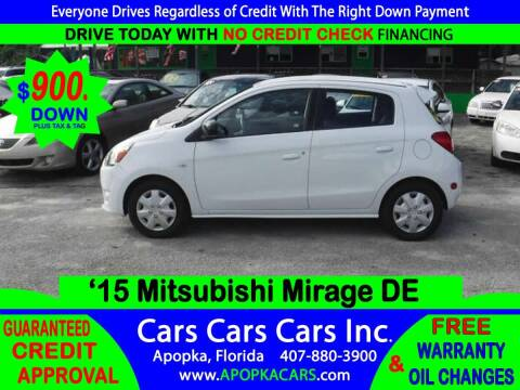 2015 Mitsubishi Mirage for sale at CARS CARS CARS INC in Apopka FL