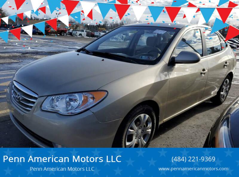2010 Hyundai Elantra for sale at Penn American Motors LLC in Allentown PA
