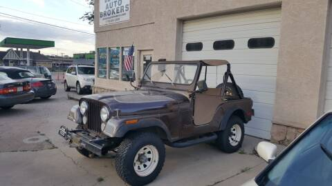 1979 Jeep CJ-5 for sale at De Kam Auto Brokers in Colorado Springs CO