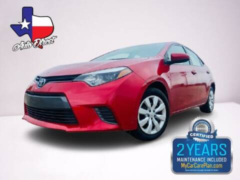 2016 Toyota Corolla for sale at AUTO DIRECT Bellaire in Houston TX