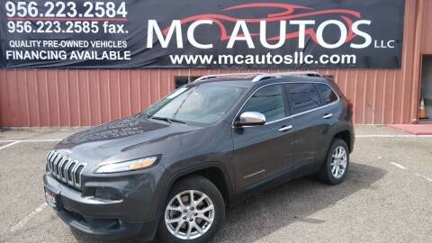 2015 Jeep Cherokee for sale at MC Autos LLC in Pharr TX